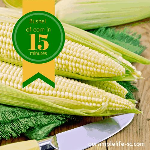 Bushel of corn in 15 minutes