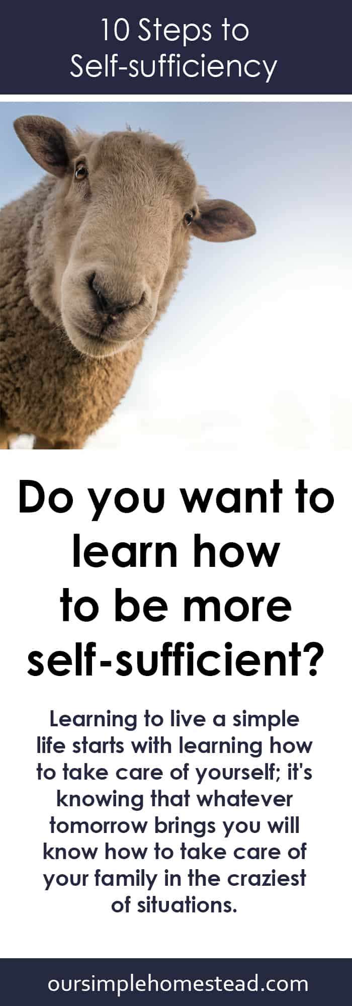 10 Steps for Living a Self-sufficient Lifestyle