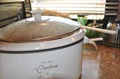 fig butter in a crockpot