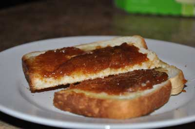 fig butter on toast