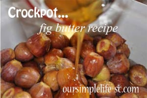 fig butter recipe in a crockpot