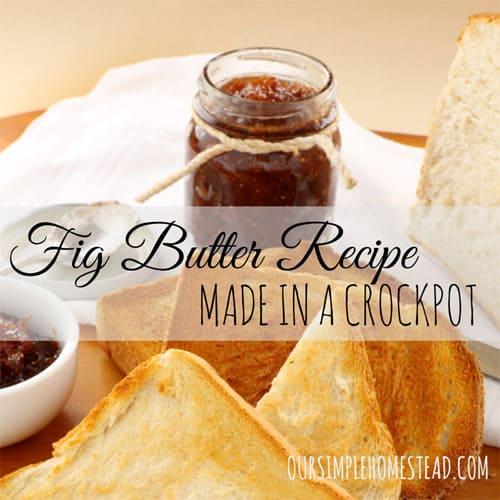 Fig Butter Recipe Made in a Crockpot