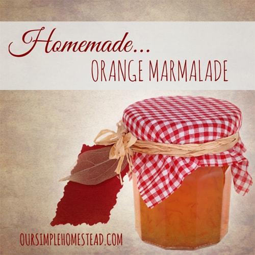 Homemade Orange Marmalade – Use up Winter Oranges