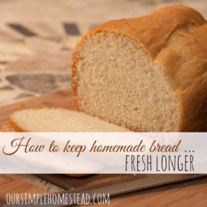 How to Keep Homemade Bread Fresher Longer