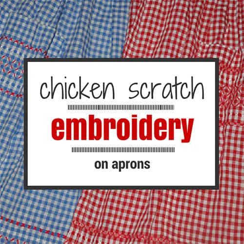 Chicken Scratch Embroidery Apron