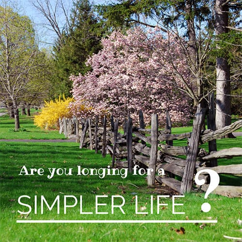 Are you longing for a simpler life?