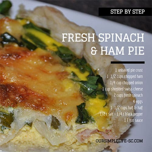 Fresh Spinach and Ham Pie – Step by Step