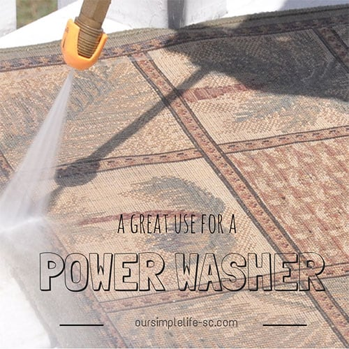 Putting the power washer to work