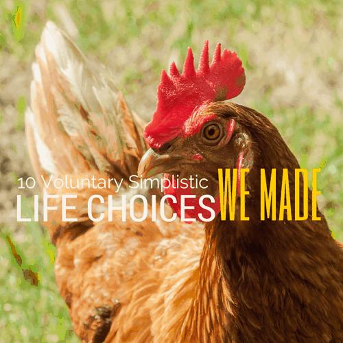 10 Voluntary Simplistic Life Choices We Made