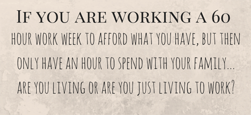 If you are working a 60 hour work week