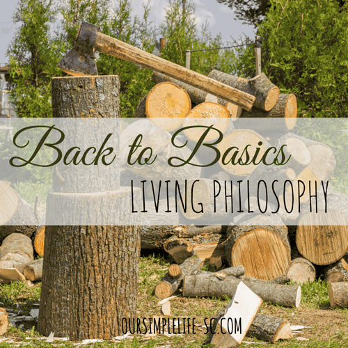 Back To Basics Living –Let me tell you a story