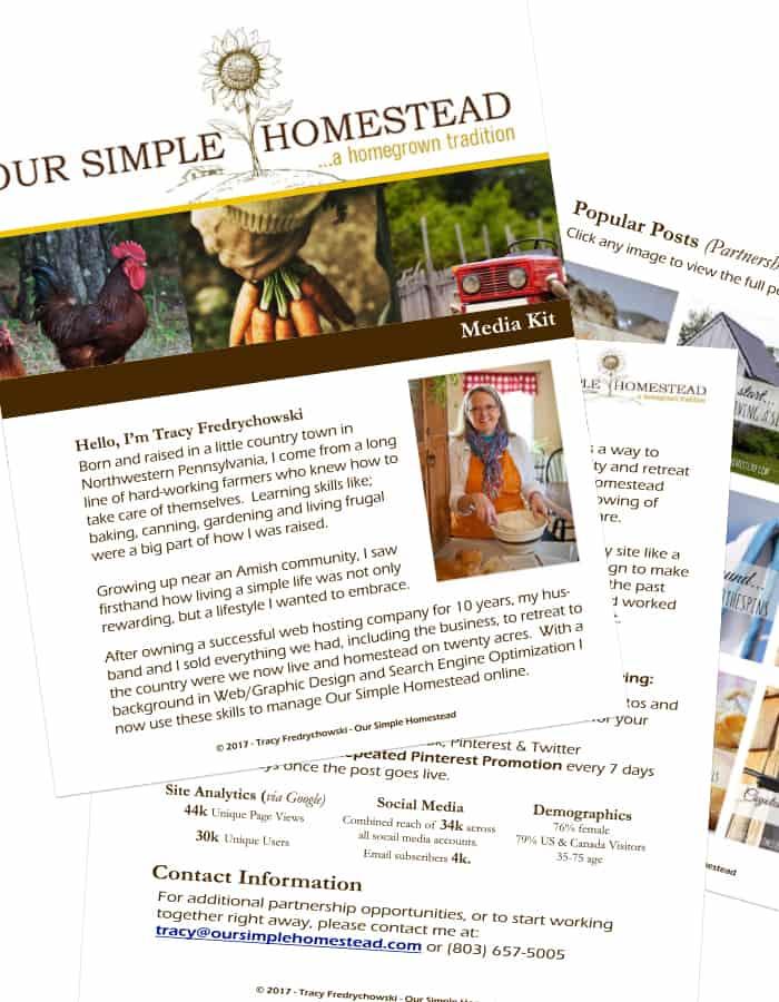 Our Simple Homestead Media Kit