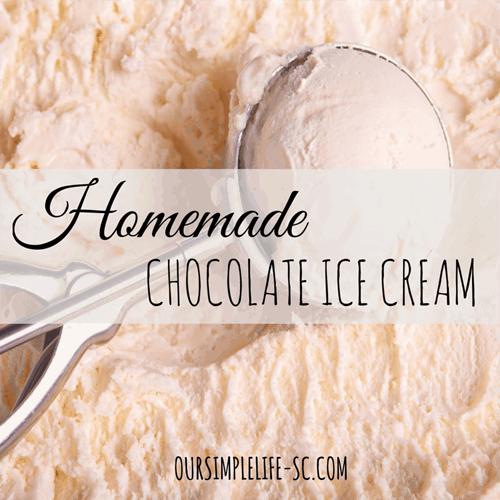 Old Fashion Homemade Chocolate Ice Cream