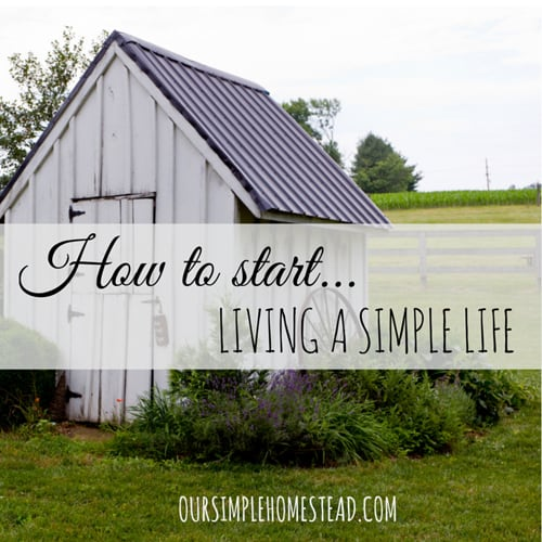 How to start living a simple life altavistaventures Image collections