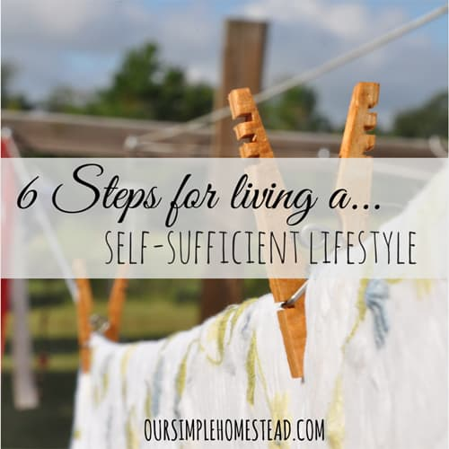 6 Steps for Living a Self-Sufficient Lifestyle