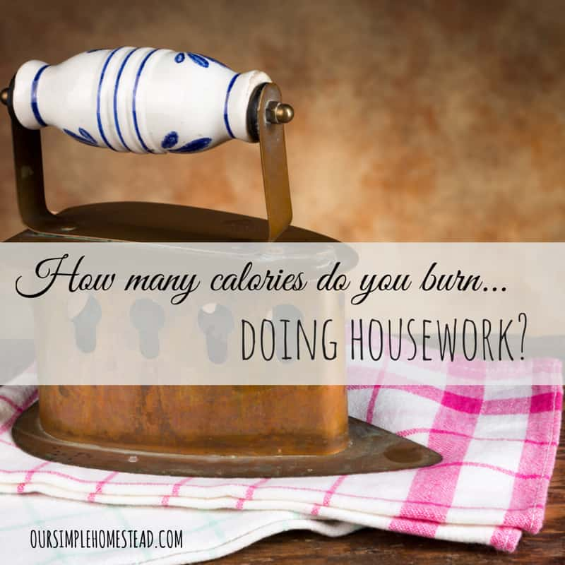 How many calories do you burn doing housework?