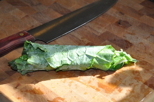 roll collard leaves