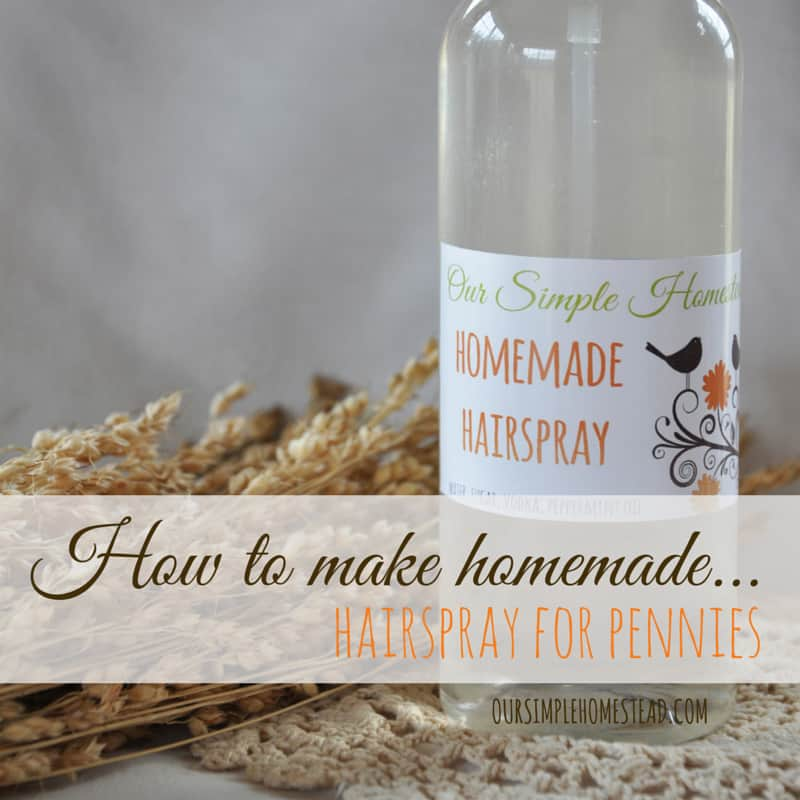 how to make hairspray homemade - diy recipe