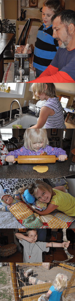 homesteading children