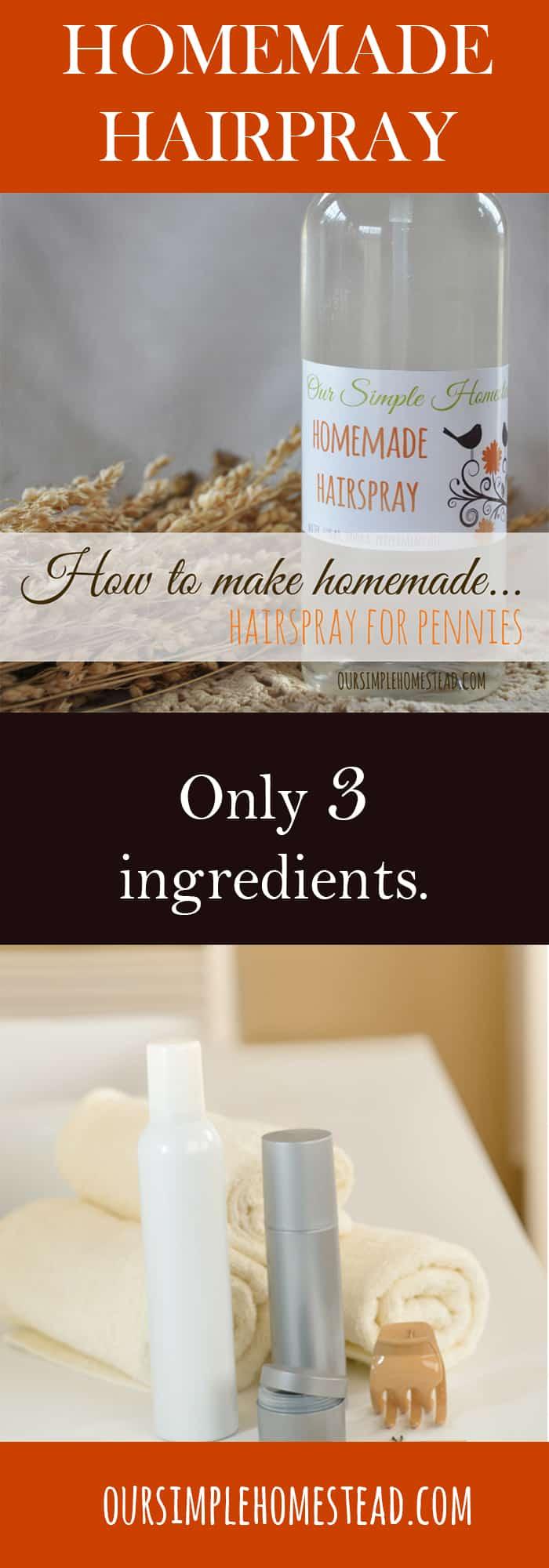 how to make hairspray homemade - diy recipe