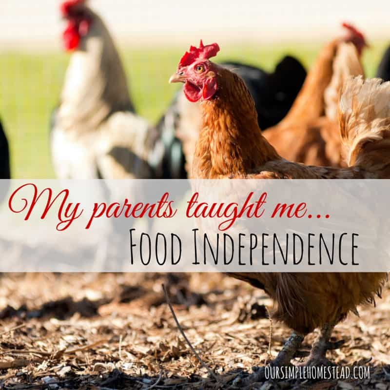 Food Independence – What My Parents Taught Me