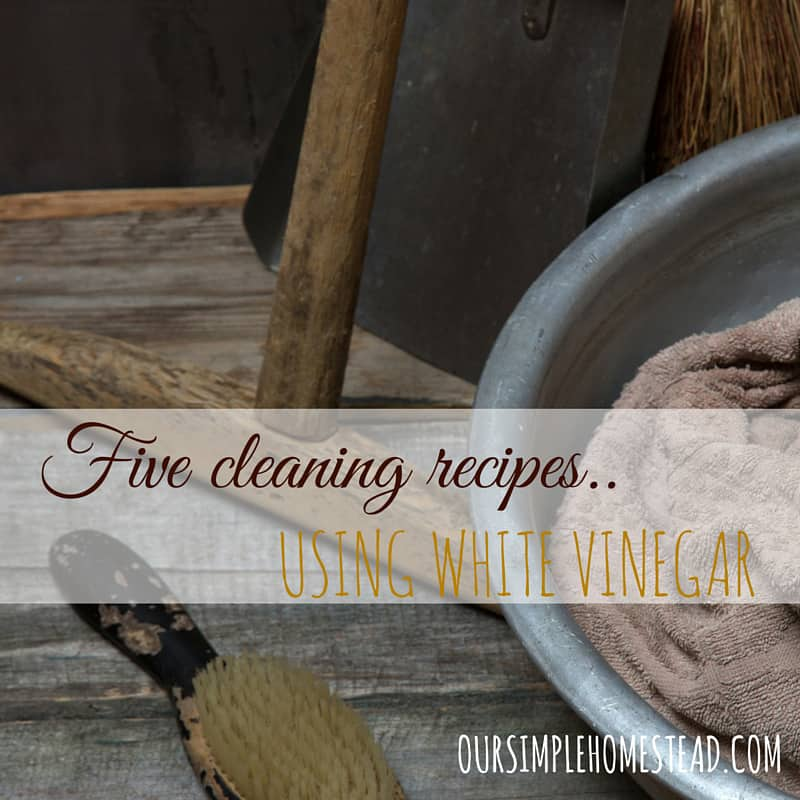 5 DIY Cleaning Recipes Using Vinegar