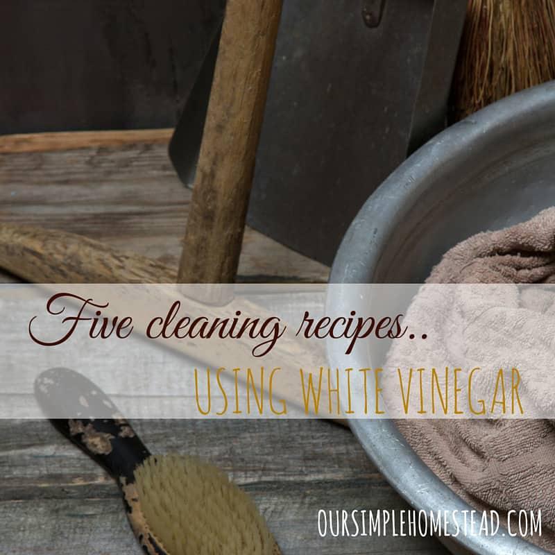 5 DIY Cleaning Recipes Using Vinegar