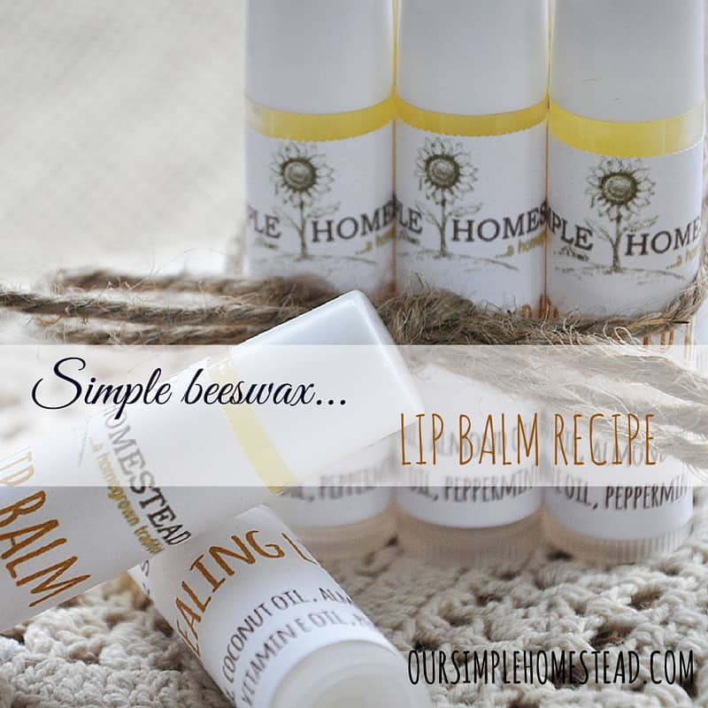 Simple Beeswax Lip Balm Recipe