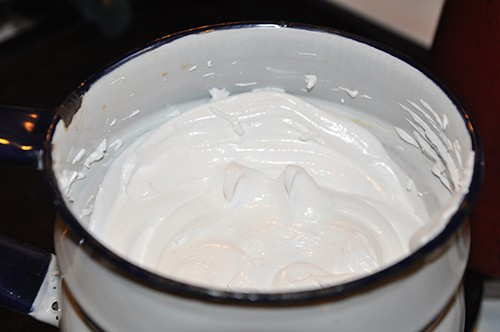 cook egg whites in double boiler