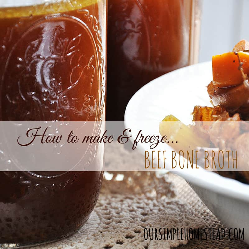How to make and freeze beef bone broth