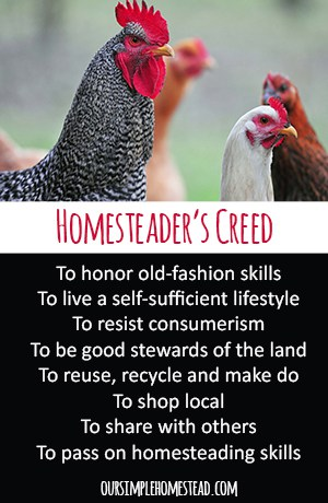 Homesteader's Creed