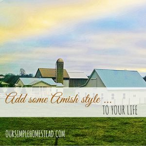 Add some Amish style to your life.