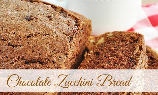 Too much zucchini? Try Chocolate Zucchini Bread