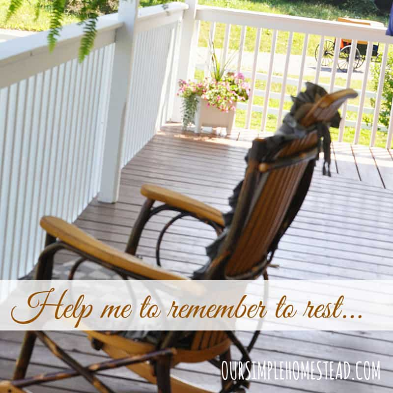 Help me remember to rest