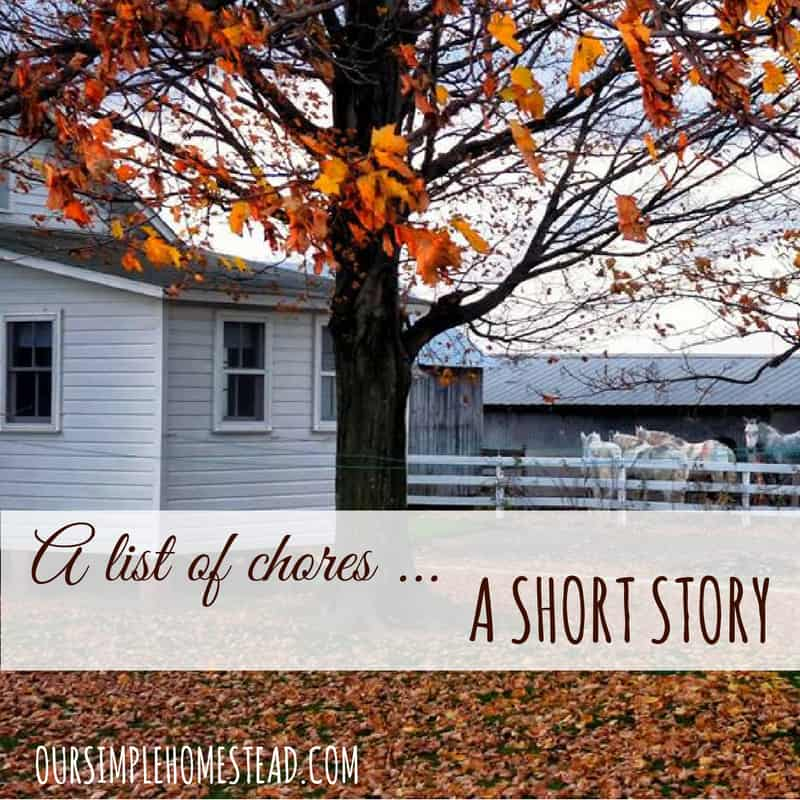 A List of Chores - Amish Short Story