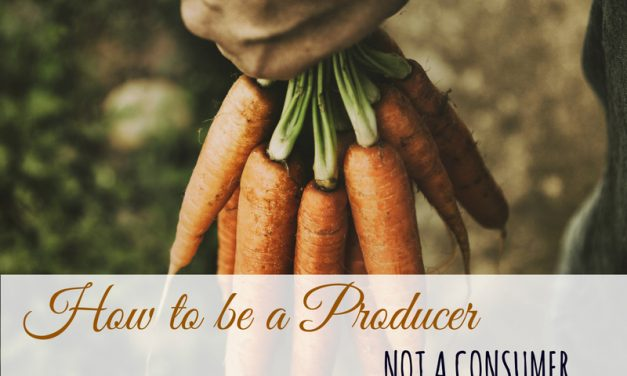 Learn to Become a Producer, Not a Consumer
