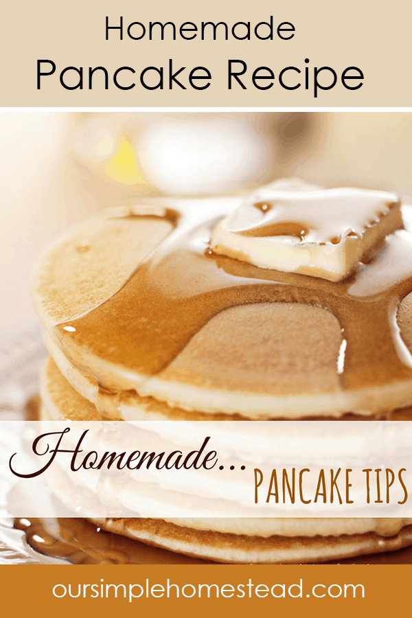 how to make the best homemade pancakes