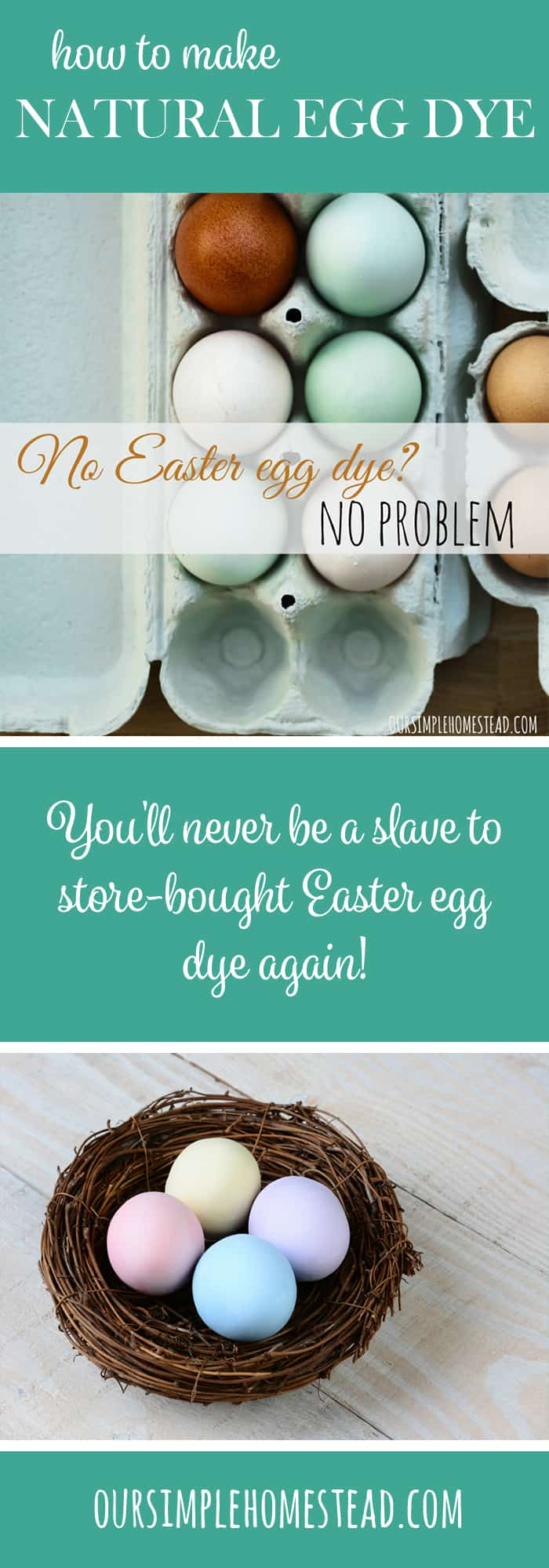 How to dye eggs naturally?