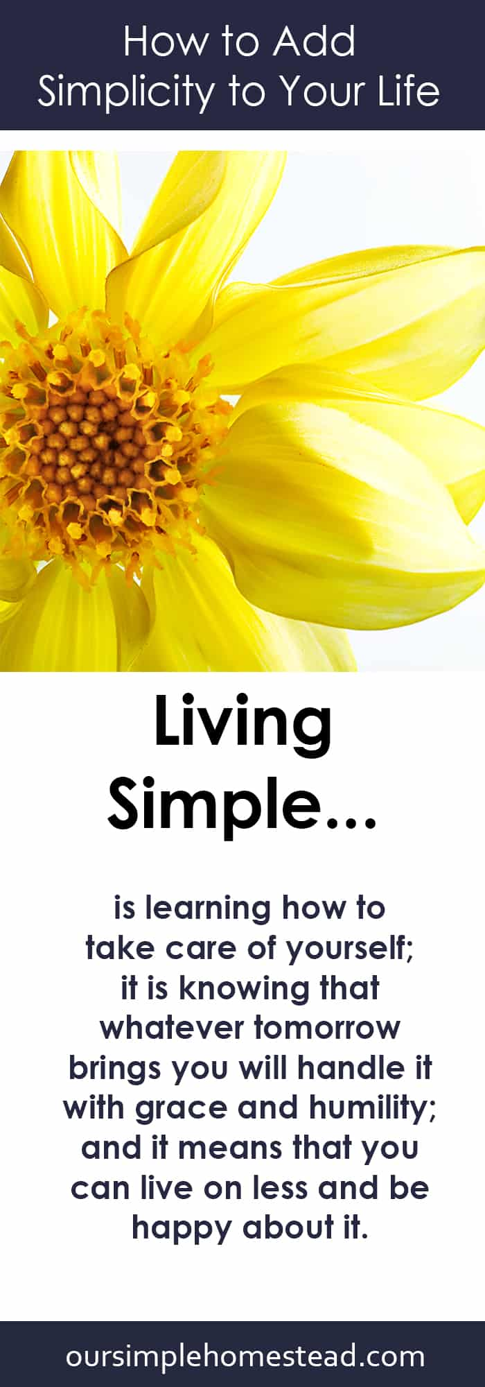 How to Add Simplicity to Your Life