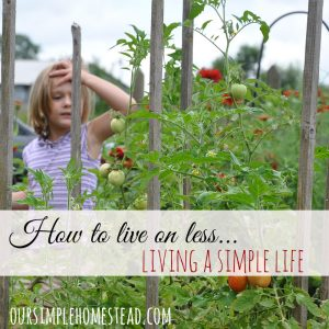 How to Learn to Live on Less
